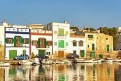 Porto Colom Village. Porto Colom typical seaside village in Majorca (Spain Stock Photo