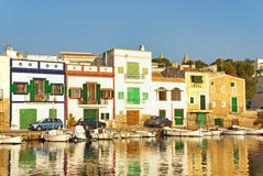 Porto Colom Village stock photo