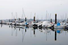 Porto com barcos Foto de Stock Royalty Free