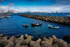 Porto com barcos Imagem de Stock