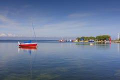 Porto com barcos do iate Imagem de Stock Royalty Free