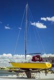 Porto com barcos, Lennusadam - porto do hidroavião Imagem de Stock