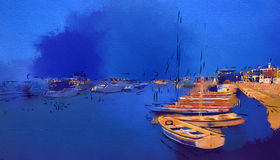 Porto com iate e barcos em Israel Ashkelon Imagem de Stock