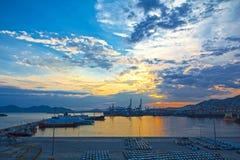 Porto comercial Foto de Stock Royalty Free