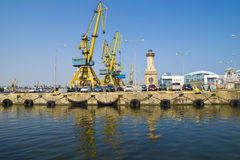 Porto comercial de Constanta Imagens de Stock Royalty Free