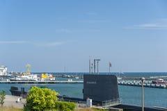 Porto con la U-barca H M. S Otus in Sassnitz immagine stock libera da diritti