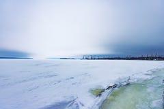 Porto congelato di Lenin Fotografie Stock