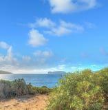 Porto Conte coastline in hdr Stock Image