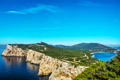 Porto Conte fjärd i Sardinia Royaltyfria Bilder
