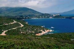 Porto Conte Regional Natural Park Italiensk kust Arkivbilder