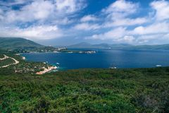 Porto Conte Regional Natural Park Italiensk kust Arkivfoto