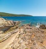 Porto Conte turquoise sea Stock Photos