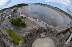 Porto Conwy & castello immagine stock