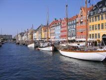 Porto Copenhaga de Nyhavn Foto de Stock Royalty Free