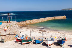 Porto Cornualha da angra de Sennen Fotos de Stock