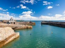 Porto Cornualha de Charlestown Foto de Stock Royalty Free