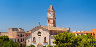 Porto Cristo church panoramic view Royalty Free Stock Images