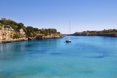 Porto Cristo Mallorca beach Balearic islands Royalty Free Stock Image