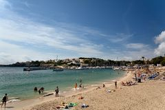 Porto Cristo Mallorca beach Balearic islands. Manacor Porto Cristo Mallorca beach, Balearic islands Spain Stock Image