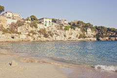 Porto Cristo Mallorca beach Balearic islands Royalty Free Stock Photography