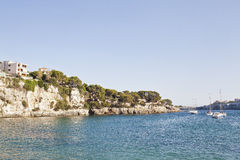Porto Cristo Mallorca beach Balearic islands Royalty Free Stock Images