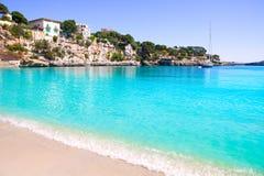 Porto Cristo strand in Manacor Majorca Mallorca Stock Afbeelding