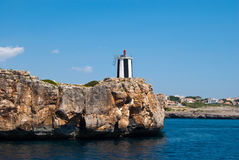 Porto Cristo Vuurtoren, eiland Majorca Royalty-vrije Stock Afbeelding