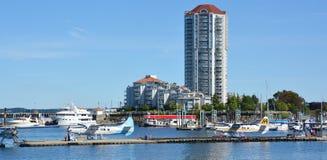 Porto da autoridade portuária de Nanaimo fotografia de stock
