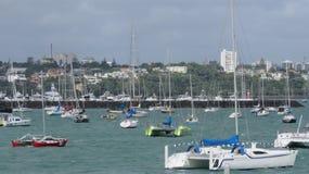 Porto da baía de Okahu Fotografia de Stock