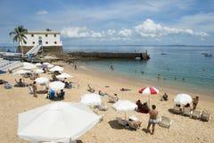 Porto da Barra Beach Salvador Bahia Brazil Royaltyfria Bilder