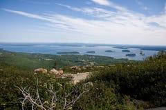 Porto da barra, opinião aérea de Maine Fotos de Stock Royalty Free