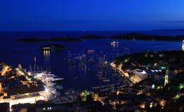 Porto da cidade de Hvar Imagens de Stock Royalty Free