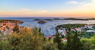 Porto da cidade de Hvar Foto de Stock