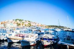 Porto da cidade de Hvar, Croatia imagem de stock