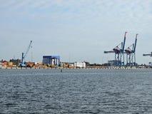 Porto da cidade de Klaipeda, Lituânia Imagem de Stock
