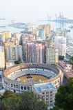 Porto da cidade de Malaga Fotografia de Stock Royalty Free