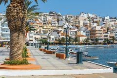 Porto da cidade de Sitia, Creta Imagens de Stock Royalty Free