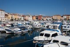 Porto da cidade em Rovinj imagem de stock royalty free