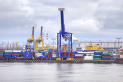 Porto da cidade St Petersburg Imagem de Stock Royalty Free