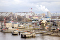 Porto da cidade St Petersburg Imagem de Stock