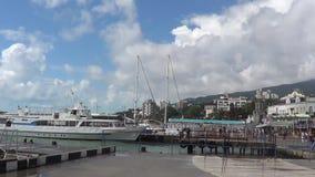 Porto da cidade Yalta, Crimeia video estoque
