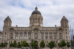 Porto da construção de Liverpool em Liverpool Inglaterra Imagem de Stock