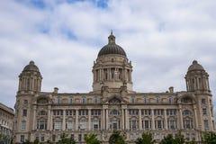 Porto da construção de Liverpool em Liverpool Inglaterra Fotos de Stock