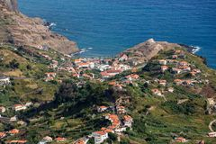 Porto DA Cruz auf der Nordküste von Madeira Lizenzfreie Stockfotos