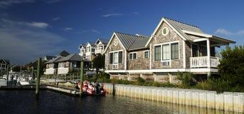 Porto da ilha da cabeça calva, North Carolina, EUA Imagem de Stock Royalty Free