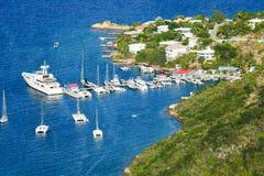 Porto da ilha de Virgin Imagem de Stock