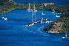 Porto da ilha de Virgin Fotografia de Stock