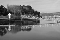 Porto da ponte de Emeryville foto de stock