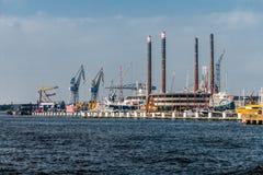 Porto da skyline de Amsterdão Foto de Stock Royalty Free