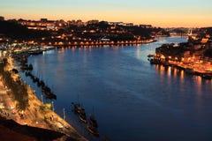 Porto dans le coucher du soleil Images libres de droits